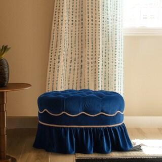 Jennifer Taylor Toby Decorative Oval Ottoman