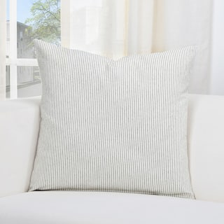 Siscovers Heritage Linen White/Grey Striped Accent Throw Pillow