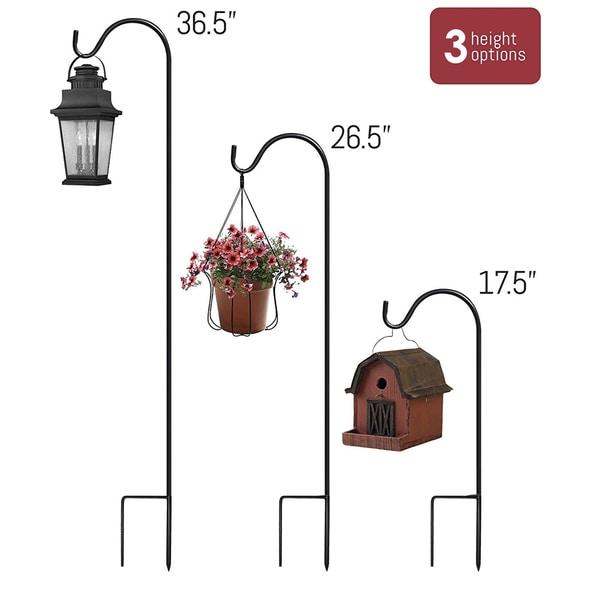 Sorbus® Shepherd's Hooks (Set of 4)