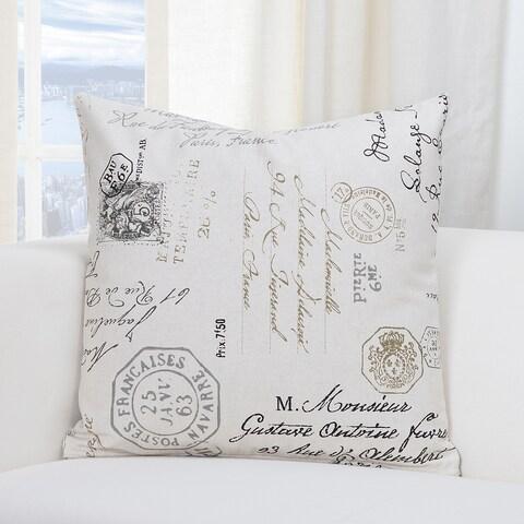 SIScovers Postscript Linen Accent Throw Pillow