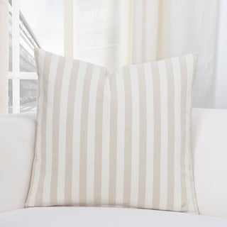 SIScovers Farmhouse Barley Tan and Off-White Cotton-blend Accent Throw Pillows