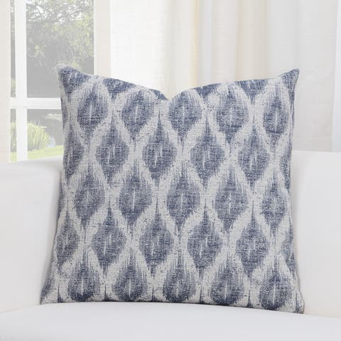 SIScovers Diamond Creek Blue/Grey Geometric Accent Throw Pillow
