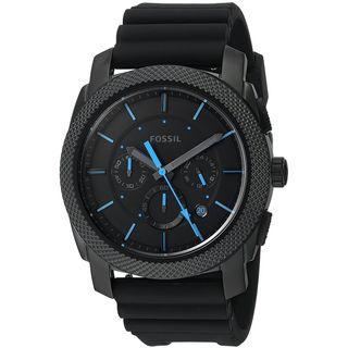 Fossil Men's FS5323 'Machine' Chronograph Black Silicone Watch