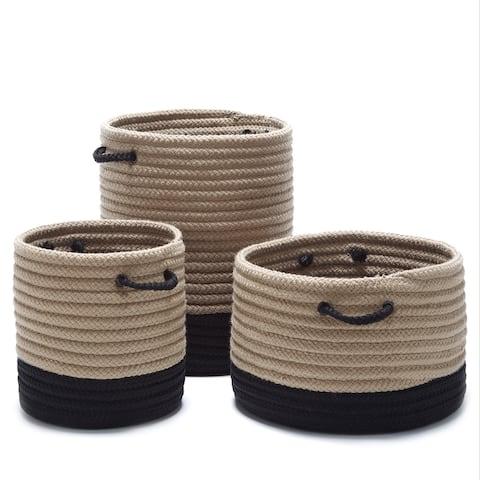 Outdoor Marina 2-Tone Naturalized Baskets (Small/Medium/Large)