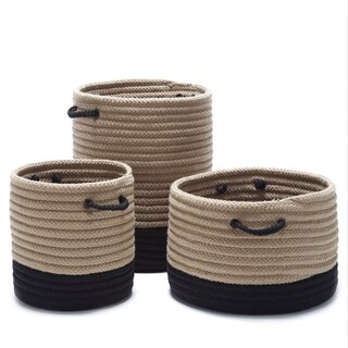 Outdoor Marina 2-Tone Naturalized Baskets (Small/Medium/Large)