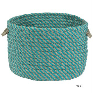 Colonial Mills Outdoor Cabana Texturized 15-inch x 12-inch Storage Basket (Option: Teal)