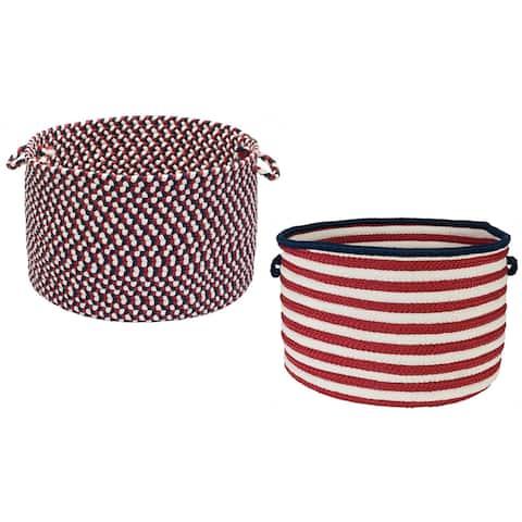 "Patriotic Red/White/Blue Storage Baskets (14""D x 10""H) - 14 in L x 14 in W x 10 in H"
