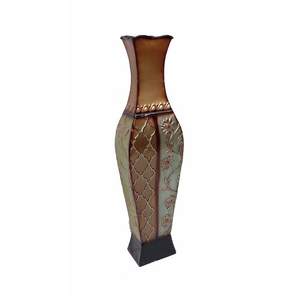 Shop D Lusso Designs Francesca Metal 24 Inch Floor Vase Free Shipping On Orders Over 45
