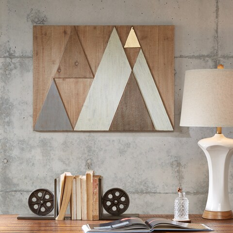 INK+IVY Ranger Natural Wood Wall Decor with Gold Embellishment