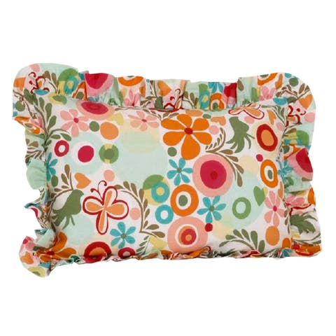 Lizzie Multi Colored Floral Standard Ruffle Pillow Sham - Multi-color