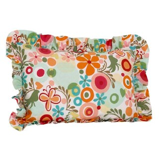 Lizzie Multi Colored Floral Standard Ruffle Pillow Sham