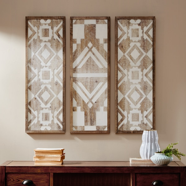 Madison Park Gabbie Natural Wood Wall Decor Set Of 3