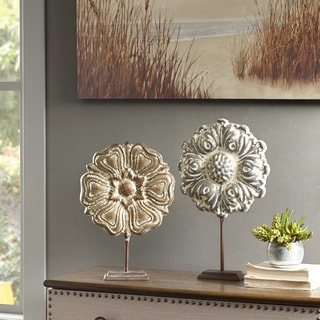 Madison Park Bryson Natural Painted Iron Sculpture Set of 2
