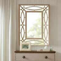 Madison Park Ethan Natural Wood Frame Rectangular Mirror