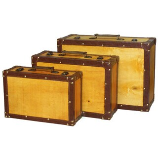 Old Vintage Suitcase, Set of 3 - NEW