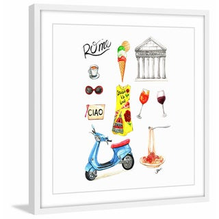 'When in Rome' Framed Painting Print