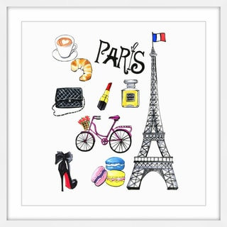 'When in Paris' Framed Painting Print