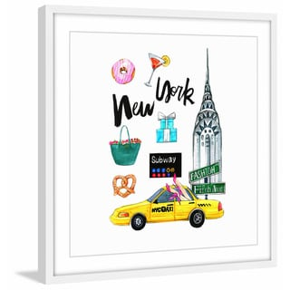 'When in New York' Framed Painting Print