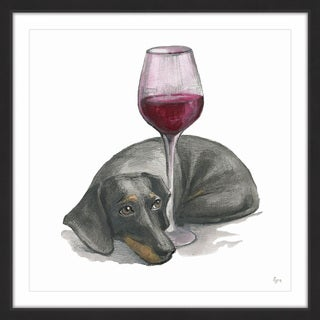 'Wine Is Me' Framed Painting Print