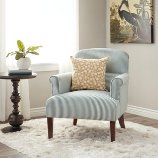 Chantilly Arm Chair Teal Stripe