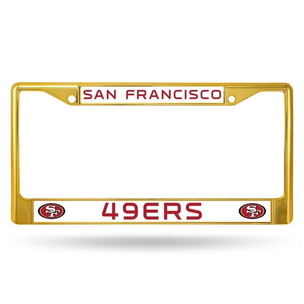 San Francisco 49ers NFL Gold Color License Plate Frame