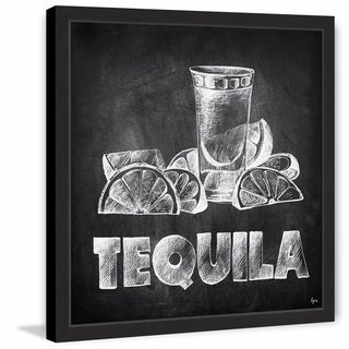 'Tequila on Chalkboard' Framed Painting Print