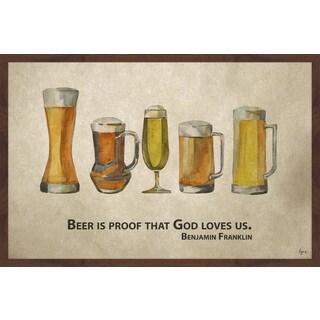 'Beer Is Proof' Framed Painting Print