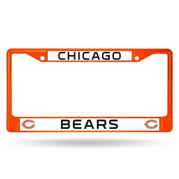 Chicago Bears NFL Orange Color License Plate Frame