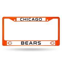Chicago Bears NFL Orange Color License Plate Frame