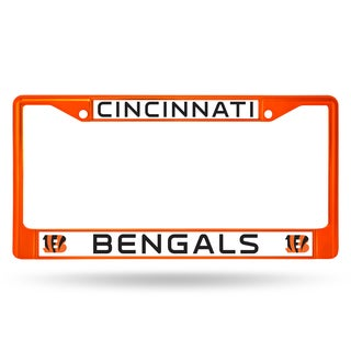 Cincinnati Bengals NFL Orange Color License Plate Frame