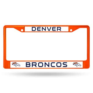 Denver Broncos NFL Orange Color License Plate Frame