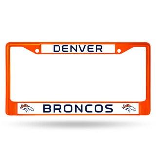 Denver Broncos NFL Orange Color License Plate Frame