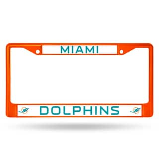 Miami Dolphins NFL Orange Color License Plate Frame