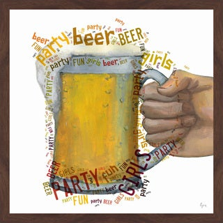 'Beer & Girls' Framed Painting Print