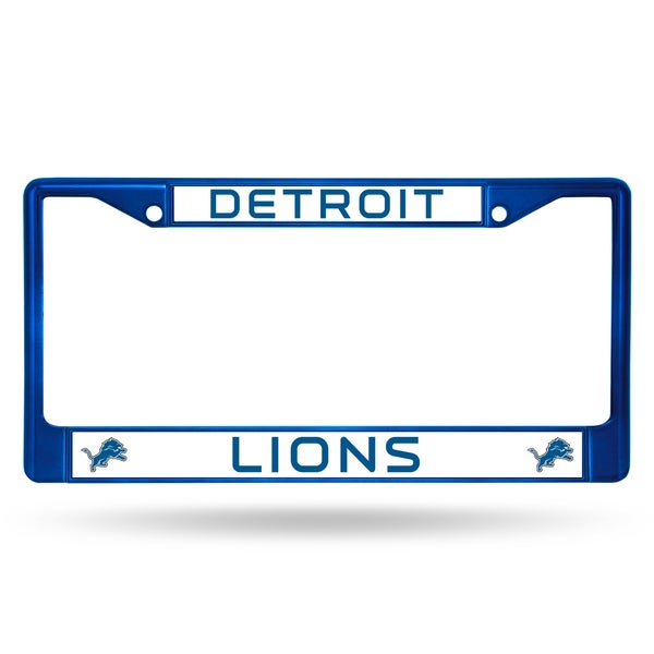 Detroit Lions NFL Blue Color License Plate Frame
