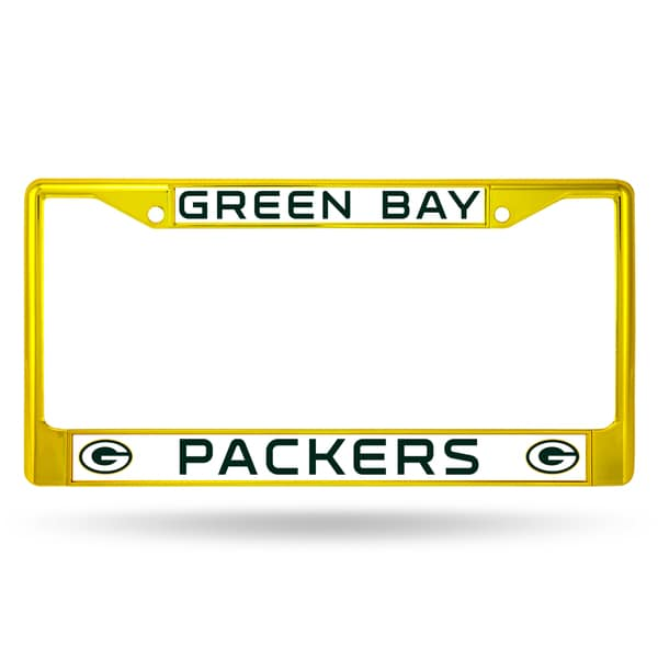 Green Bay Packers NFL Yellow Color License Plate Frame