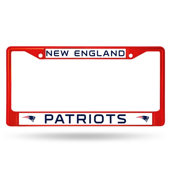 New England Patriots NFL Red Color License Plate Frame