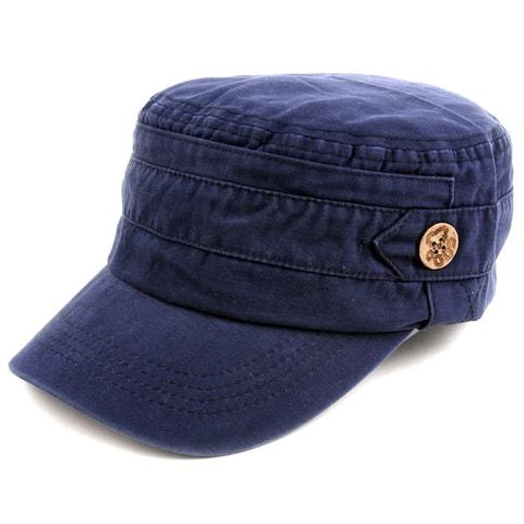 Pop Fashionwear Unisex 100% Cotton Washable Cadet Cap Hat 1