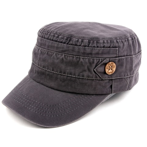 Pop Fashionwear Unisex 100% Cotton Washable Cadet Cap Hat 1