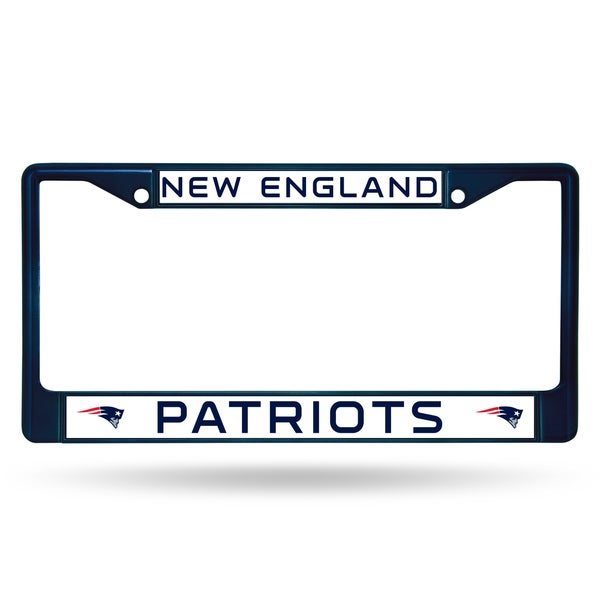 New England Patriots NFL Navy Color License Plate Frame