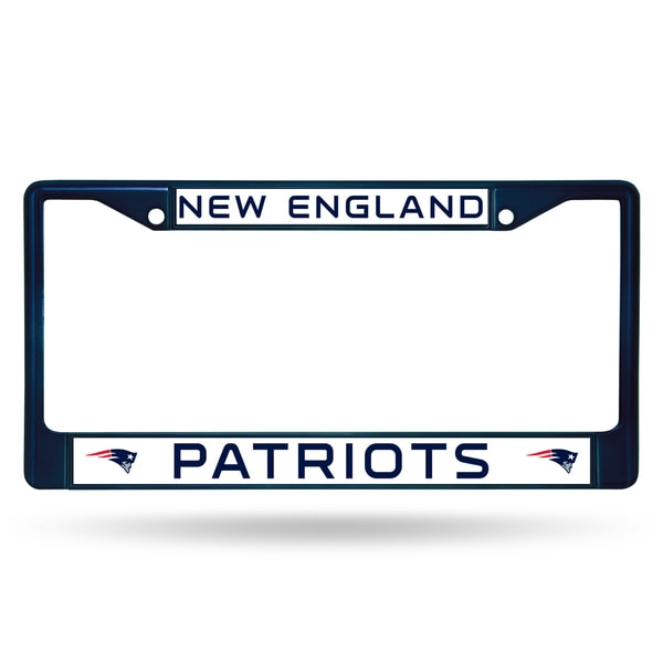 8cd698b2c39b34 Shop New England Patriots NFL Navy Color License Plate Frame - Free Shipping  On Orders Over $45 - Overstock.com - 16071802