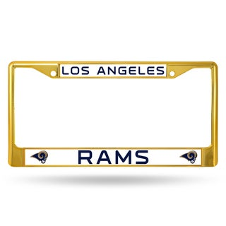 Los Angeles Rams NFL Gold Color License Plate Frame