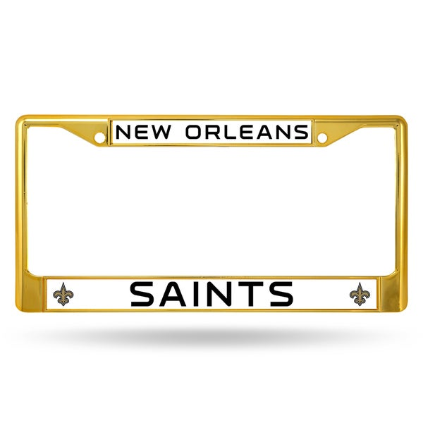 New Orleans Saints NFL Gold Color License Plate Frame