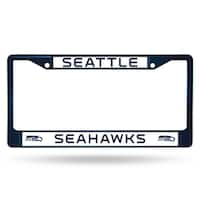 Seattle Seahawks NFL Navy Color License Plate Frame