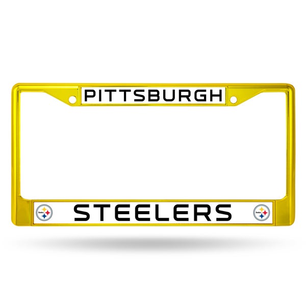 Pittsburgh Steelers NFL Yellow License Plate Frame