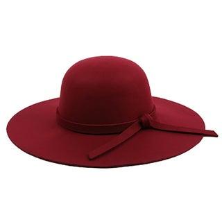 Pop Fashionwear Winter Floppy Wide Brim Sun Hat With Bow Trim