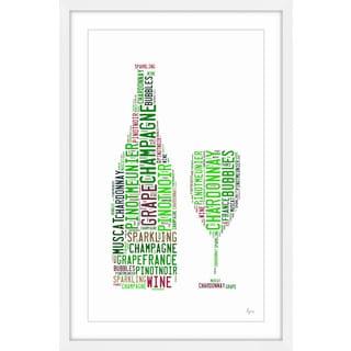 'Champagne Expert' Framed Painting Print