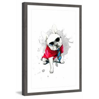 'Cool Bulldog' Framed Painting Print