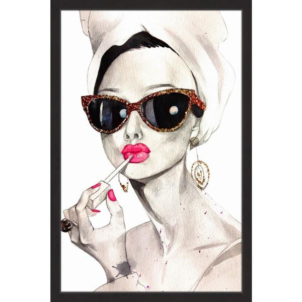 Shop \'Audrey Hepburn\' Framed Painting Print - On Sale - Free ...