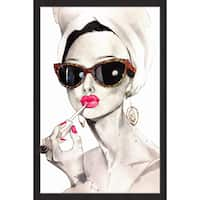 'Audrey Hepburn' Framed Painting Print